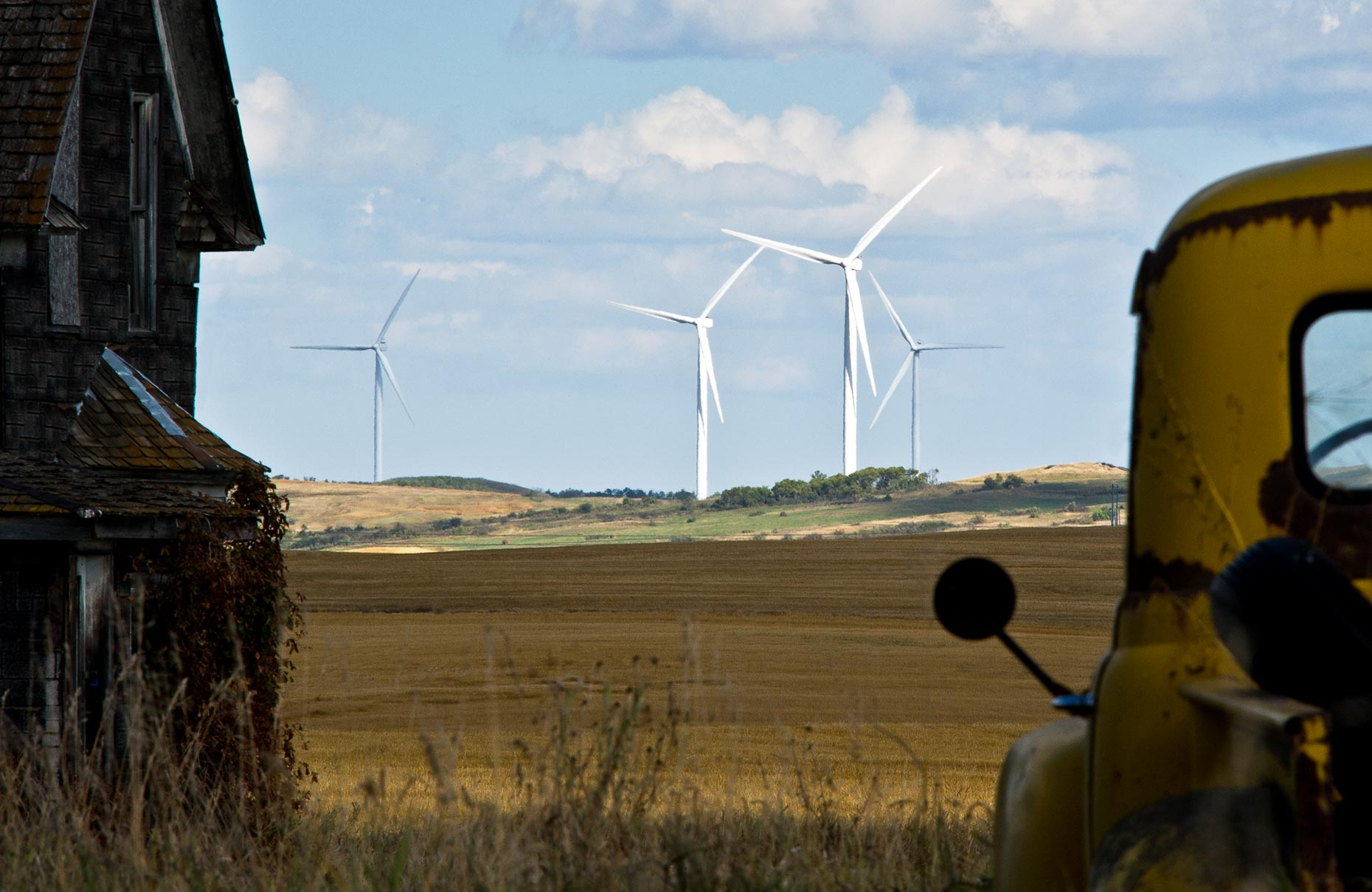 North Dakota wind turbines photographed by Fargo editorial photographer Dan Koeck.