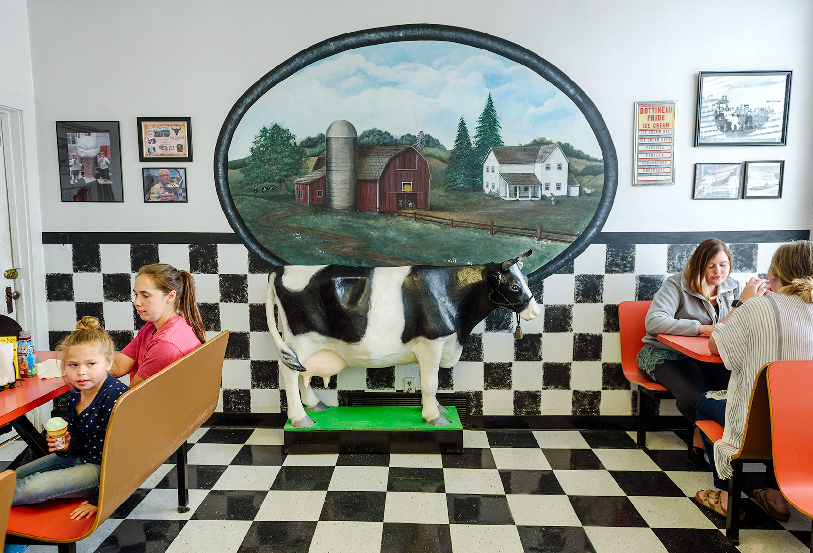 A photo of the Pride Dairy Store in Bottineau  by North Dakota photographer Dan Koeck.