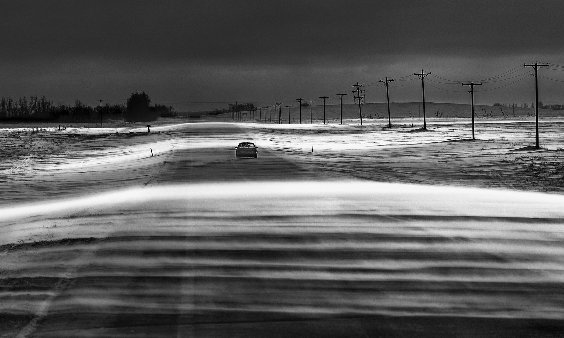 A North Dakota blizzard photographed by Fargo, North Dakota documentary photographer Dan Koeck.