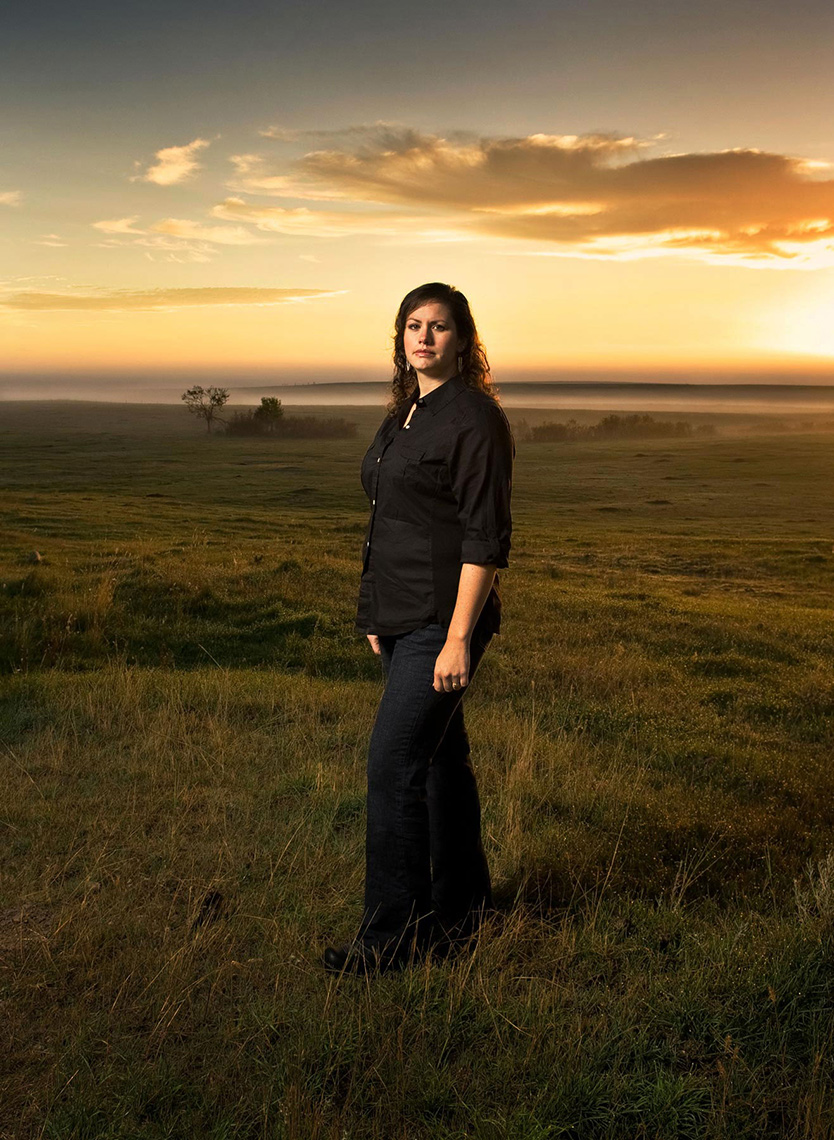 A location portrait taken by North Dakota photojournalist Dan Koeck