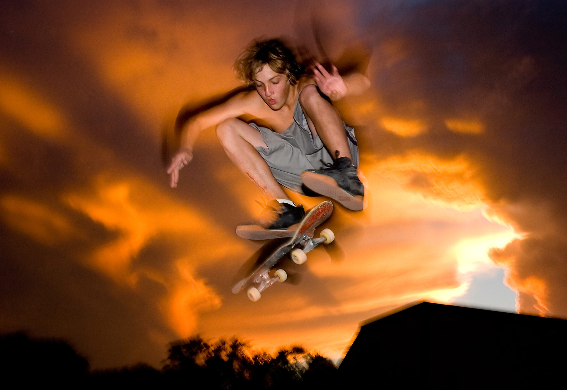 A skateboarder photographed by Fargo editorial photographer Dan Koeck